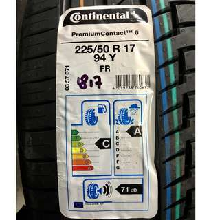 **YEAR END CLEARANCE MEGA SALE!** Brand New Continental Premium Contact 6 225/50R17