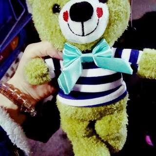 剛夾到 綠色 熊熊