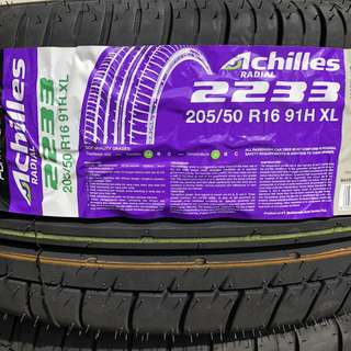 **YEAR END CLEARANCE MEGA SALE!** Brand New Achilles 205/50R16