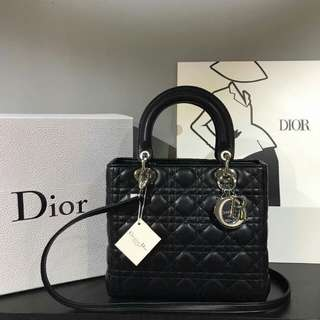 Lady Dior Black With Silver Hardware