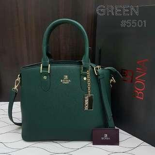 Bonia Tote Bag Emerald Green