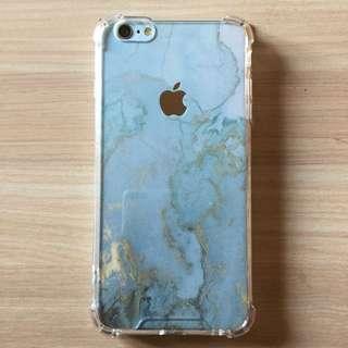 Iphone 藍金彩雲背膜