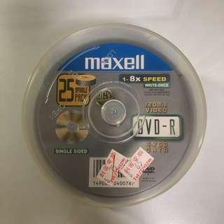 Maxell DVD-R 4.7GB 1-8xSpeed 120分鐘video