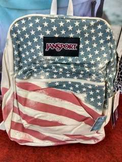 Jansport Super Fx White Faded Stars