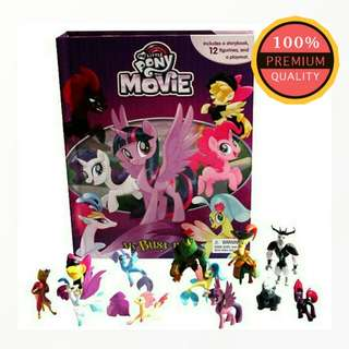 My Little Pony the Movie Book (10 Story Board Books, 12 Pony Characters, Giant Playmat)