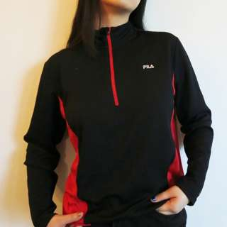 Fila black and red long sleeves