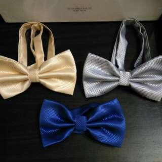 全新領結三個