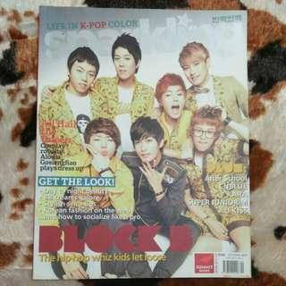 Sparkling October 2011 Kim Hyun Joong and Block B Cover