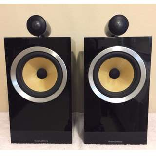 Bowers and Wilkins Pair of CM6 S2 Speakers in High Gloss Black Like New with Box