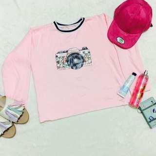 Pullover camera pink