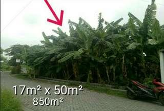 Tanah 850m² SHM - Surat hak milik. sedati