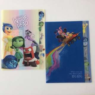 🌈 Authentic Disney INSIDE-OUT 5 Flap Folder