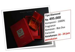Parfum Original Indonesia PG Diamond 50ml