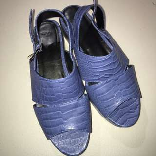 ASOS Women's Blue Snake Skin Shoes 7