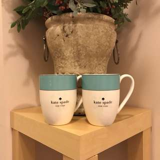 Kate Spade by Lenox turquoise coffee cups