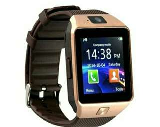 DZ09 Smart watch with Camera, Bluetooth, and Sim card/Memory card Slots (ROSE GOLD)