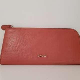 Bally orange wallet