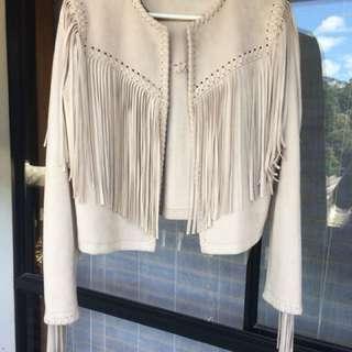 Brand new Zara tassel suade jacket