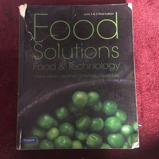 Food solutions food and technology textbook unit 3/4