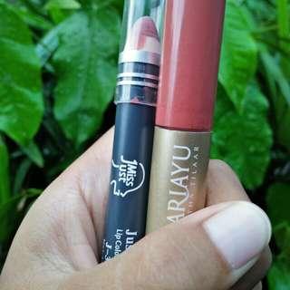 Lipstik justmiss &  sariayu duo lip color