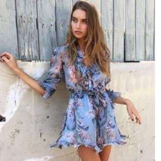 Zimmermann Winsome Ruffle playsuit