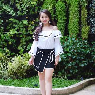 Sabrina Top + Ribbon Skirt