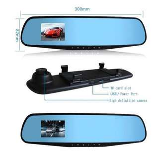2.8 Full HD 1080P Auto Car DVR Rearview Mirrors Camera Video