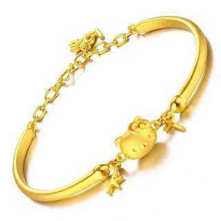 18K gold plated hello kitty bracelet 手鏈