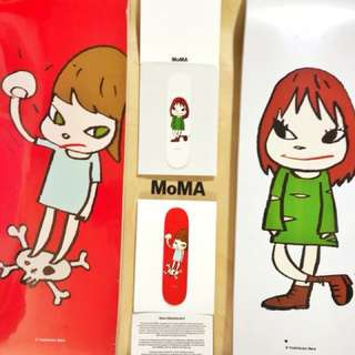 Yoshitomo Nara skateboard SET (Red & White) *Limited Edition 奈良美智