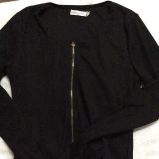 Long Sleeve Bodycon Zip Dress