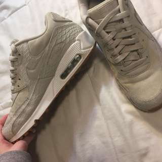 Nike Air Max 90 Hyperfuse Nude White