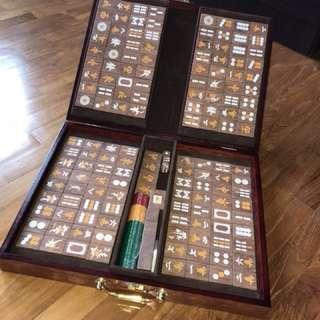 *Mint* Luxurious Wooden Mahjong Full Set