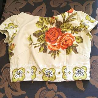 Fabled and True floral crop top