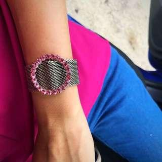 Pink diamond bracelet