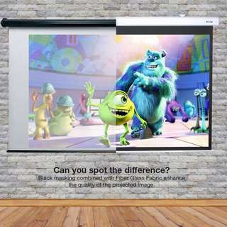 """[NEW] 100"""" 16:9 Home Theater Integrated Projection Screen / Bigshine Screen"""