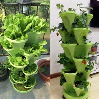 Stackable vertical pot