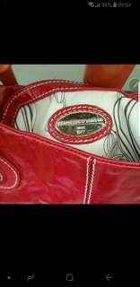 Francesco Biasia red handbag