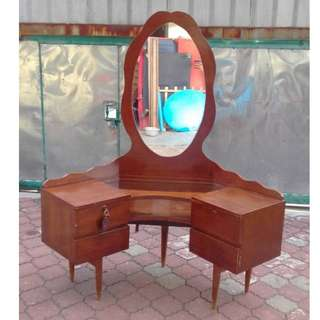 Antique Dressing Table 3 Angle Vintage (138 X 66 X 165 cm) * K54 D