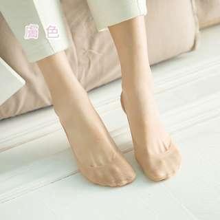 冰絲純棉隱形襪 純棉襪 矽膠玫瑰花造型 防滑底部 娃娃鞋 高跟鞋 平底鞋 襪子【A061】