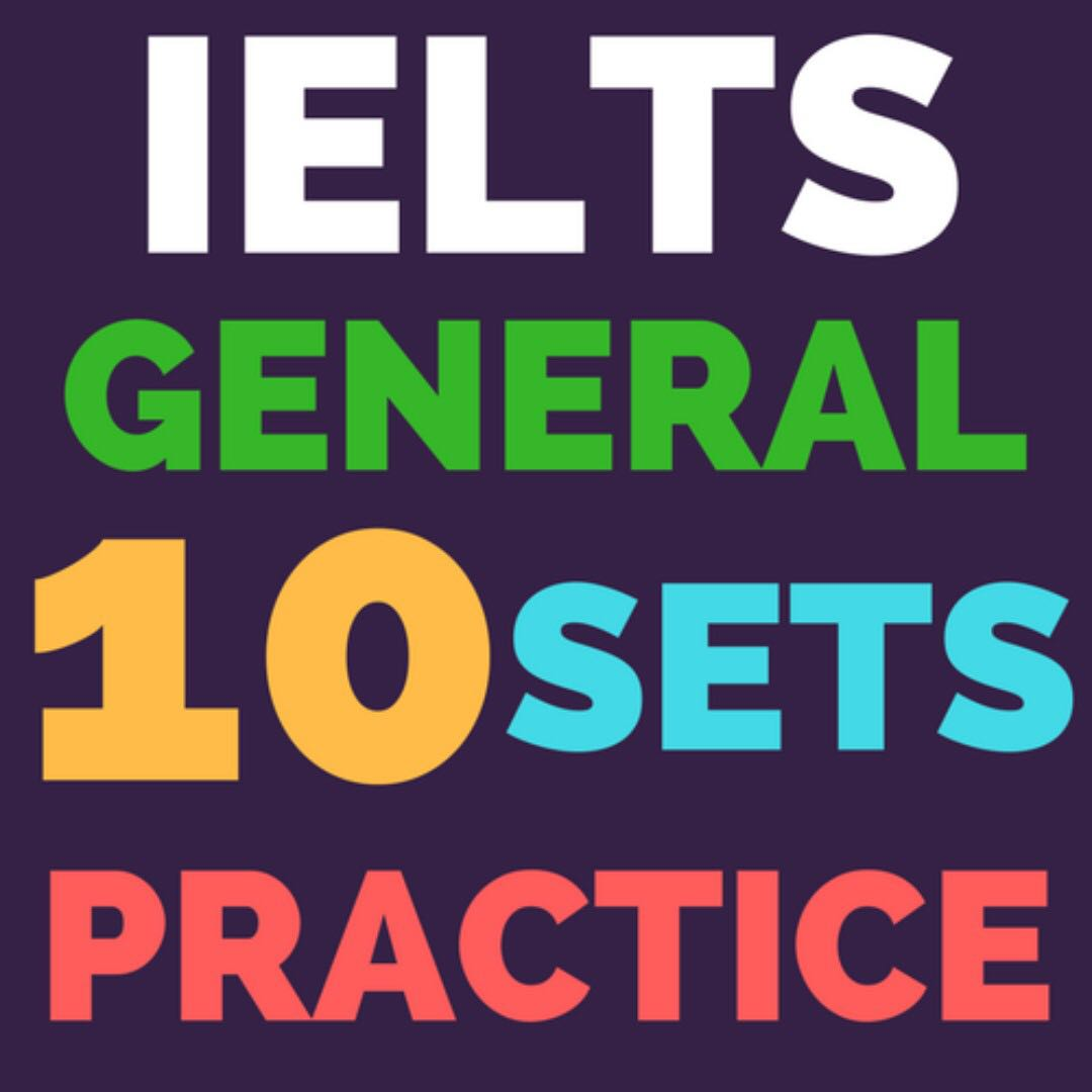 10 Practice Sets IELTS General Training (With Key + Audio), Books ...
