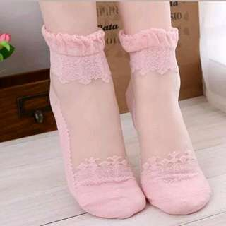 Ankle Socks Lace Sheer