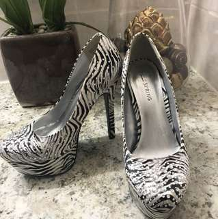 Call It Sping Zebra Print Heels