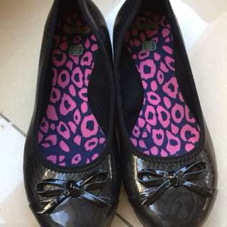 Clarks black shoes for girls