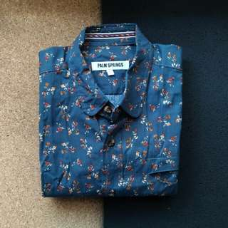 Floral Button Down Polo (Brand New)