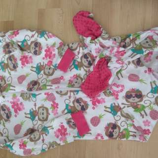 Adorable baby girl night romper (6-8 months)