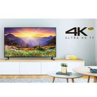 Panasonic 43-inch 4K Ultra HD TV with extended warranty