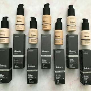 The Ordinary Serum / Coverage Foundation