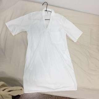 降.UQ長版襯衫洋裝