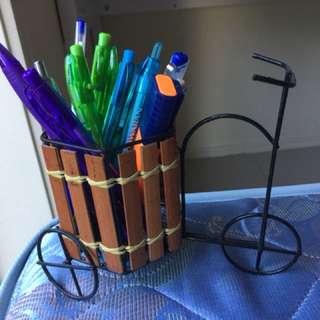 Bicycle pen/ makeup holder
