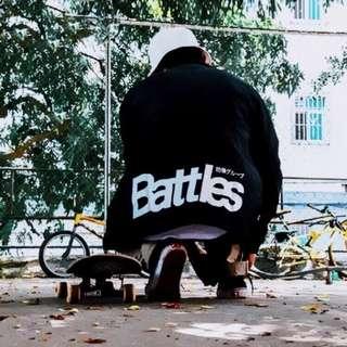 【Oscar】教練外套 夾克 情侶 休閒 中國有嘻哈 風衣 BATTLES